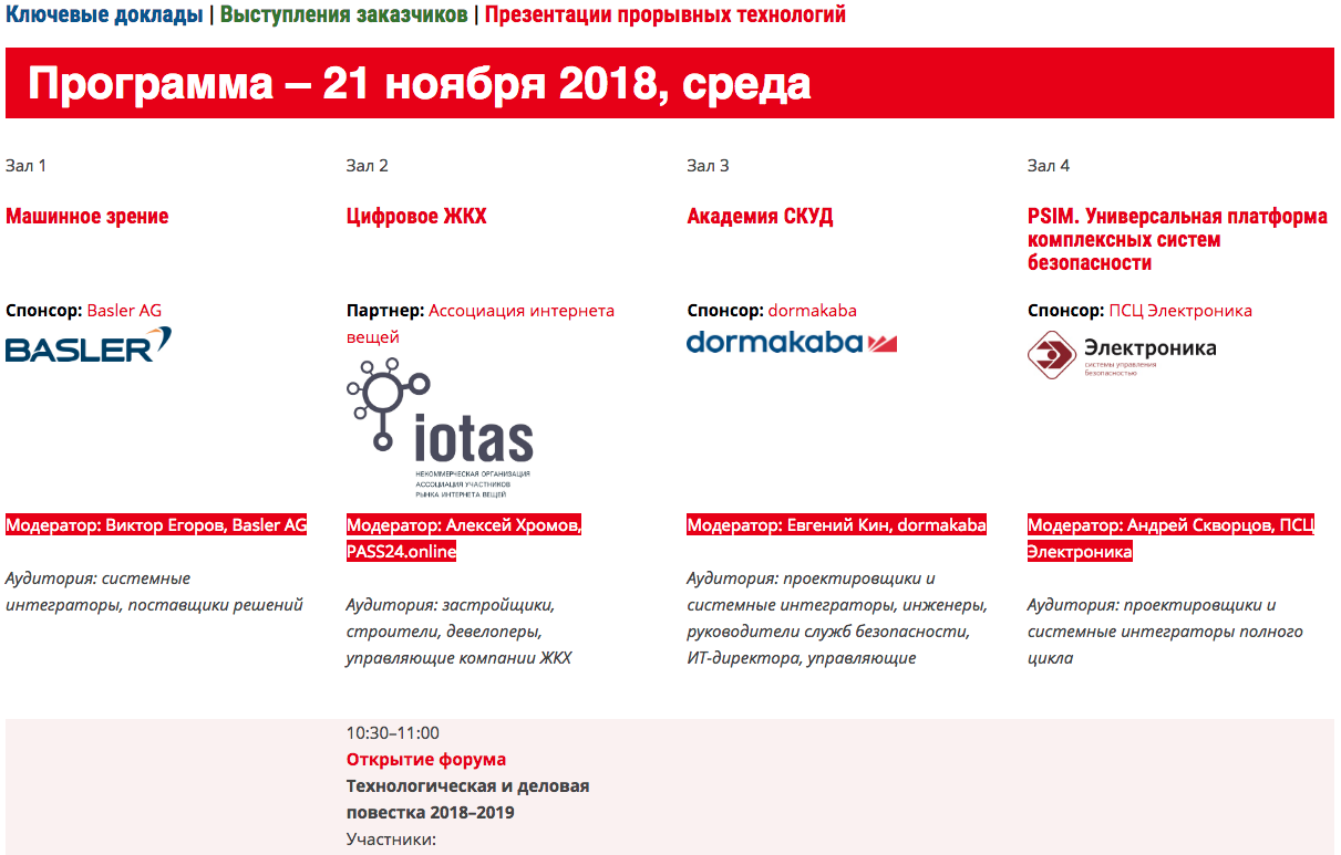 ВСЯ ПРОГРАММА ALL-OVER-IP 2018